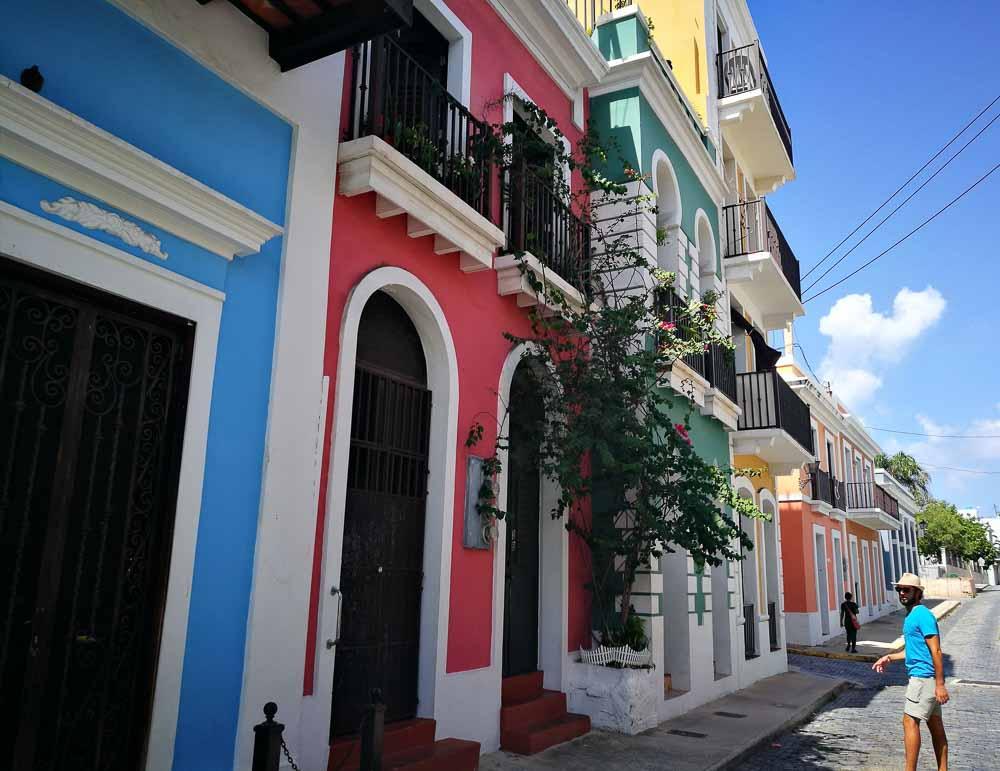 Casas de colores en San Juan