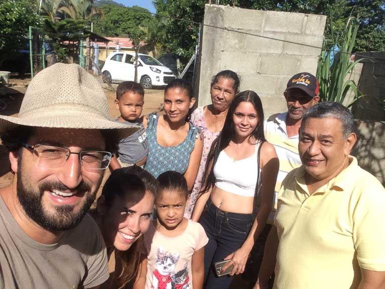 Con amigos en Republica Dominicana