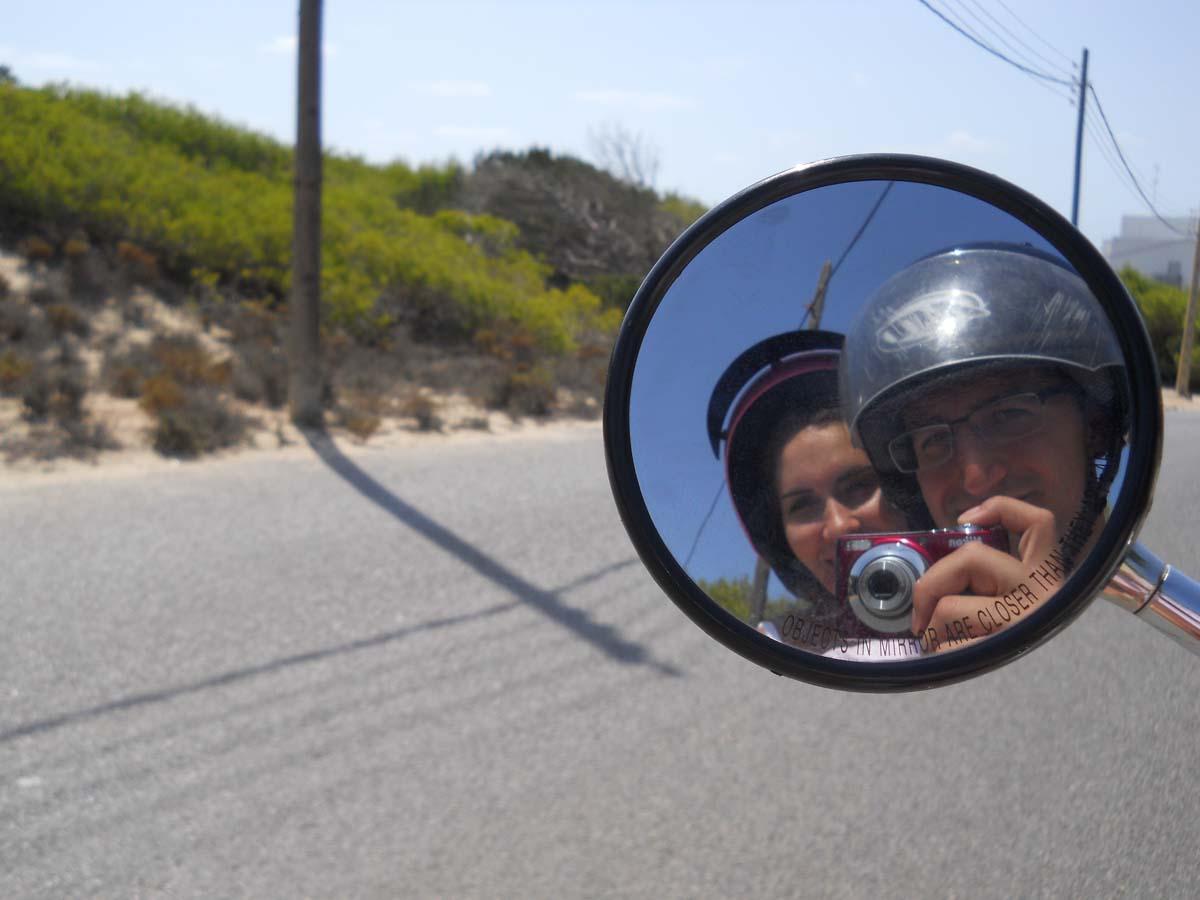 En moto por Formentera