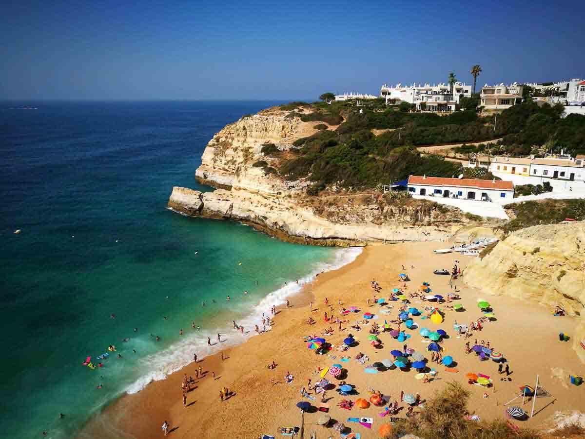 Vistas a las playas del Algarve