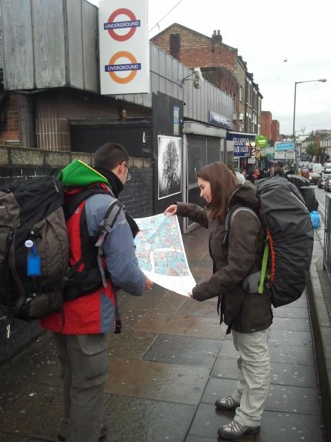 Consultando un mapa de Londres