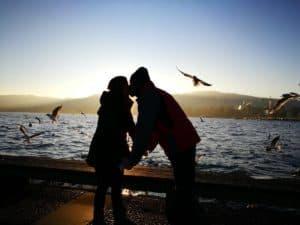 Nosotros en el lago de Zurich