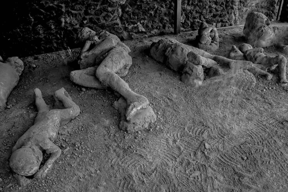 Restos humanos del desastre de Pompeya