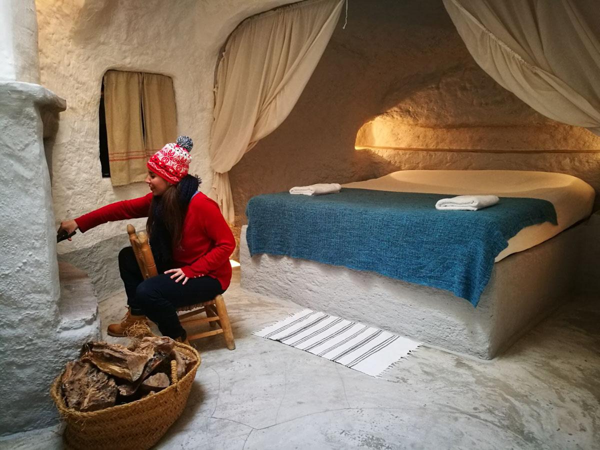 Chimenea en la cueva