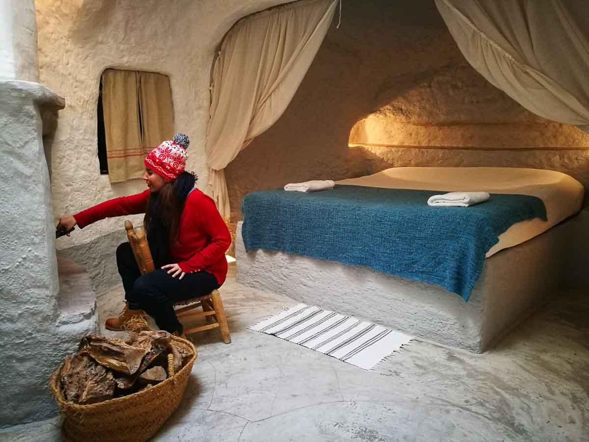 MJ en una casa cueva de Granada