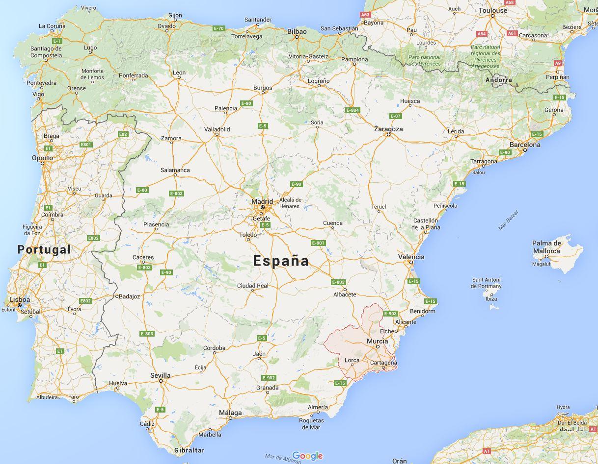 Mapa de Murcia