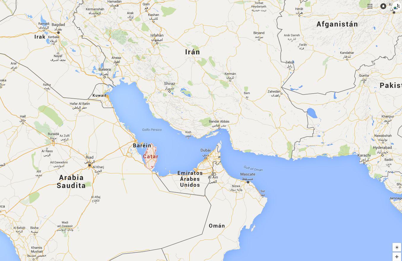 mapa qatar