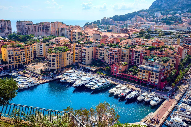 Panorámica del puerto de Monaco