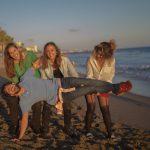 En las playas de Marbella con amigos