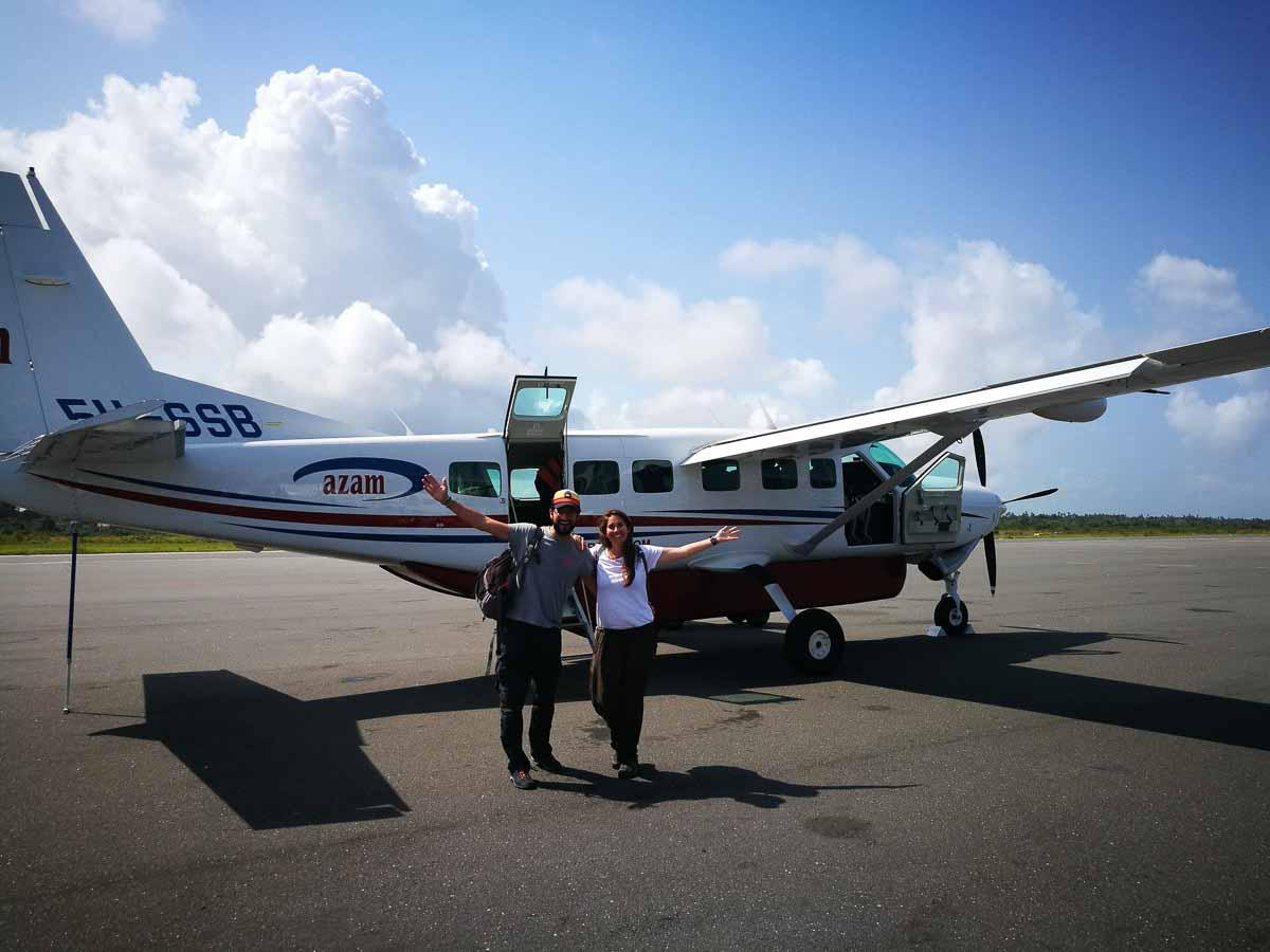 Avioneta en Zanzibar