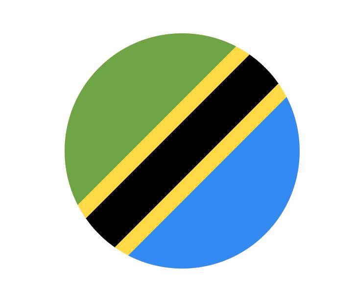 Bandera redonda Tanzania