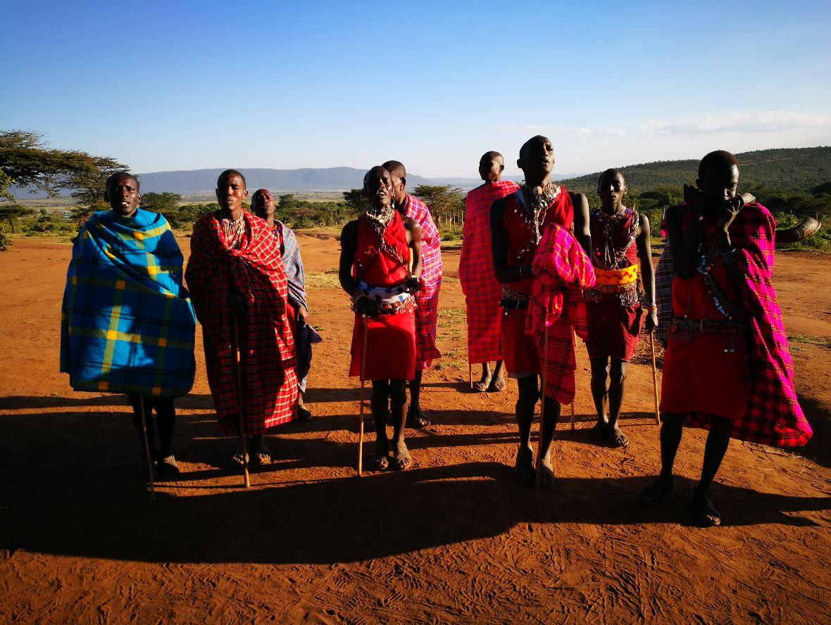 Los masais de Kenia