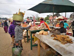 Mercado en Madagascar