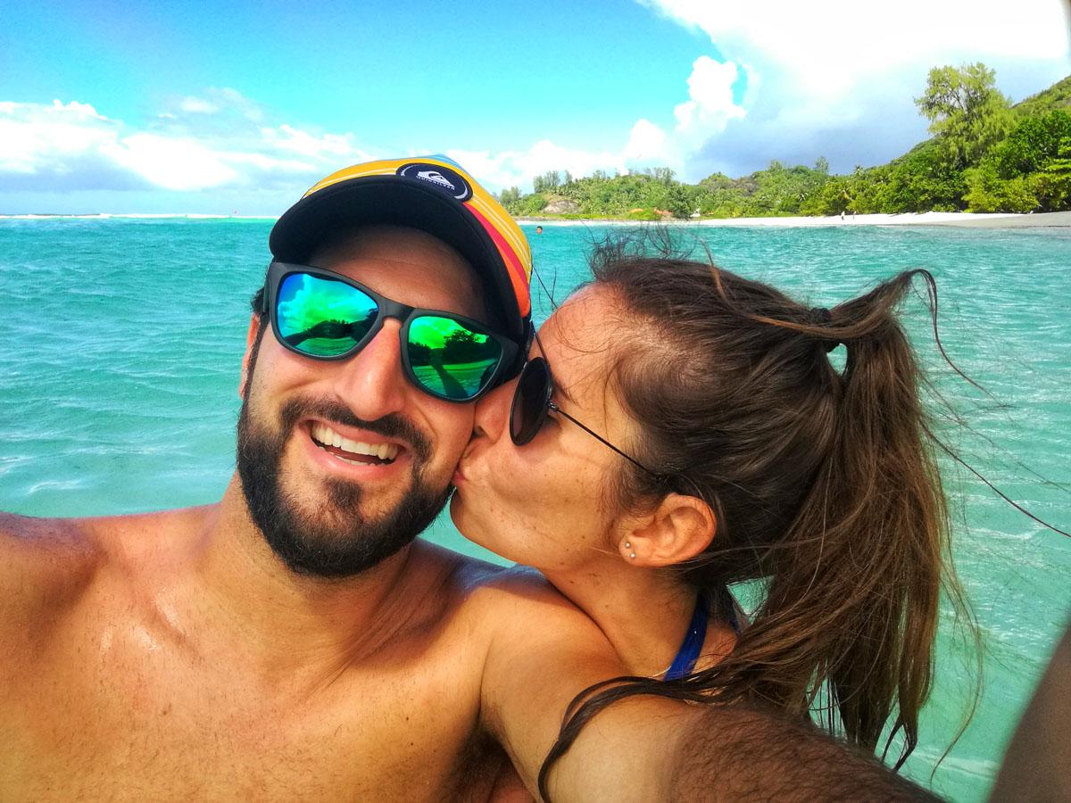 Nosotros mas que felices en las Seychelles