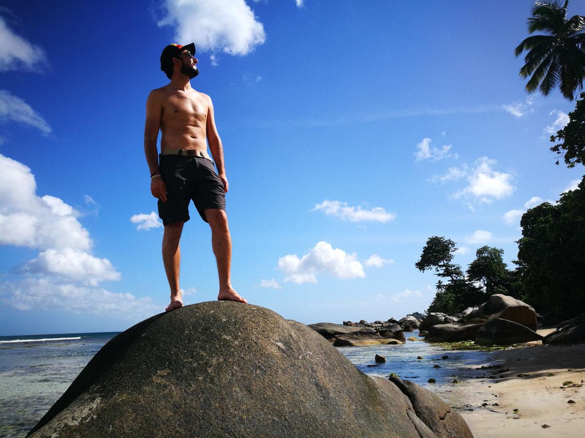 JP en las Seychelles