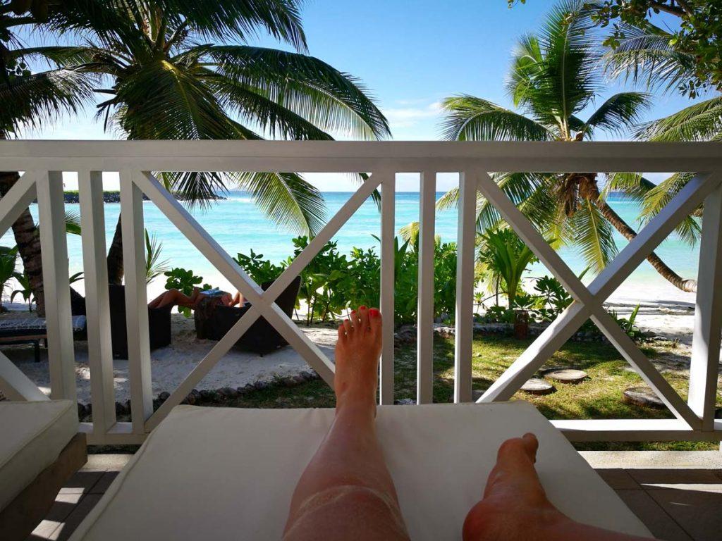 Nuestro alojamiento en Seychelles