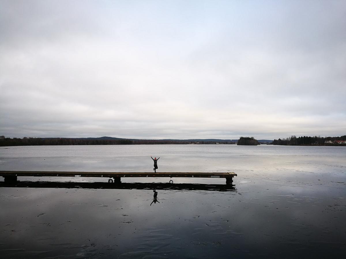 MJ en el lago