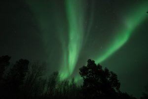 La bella aurora boreal