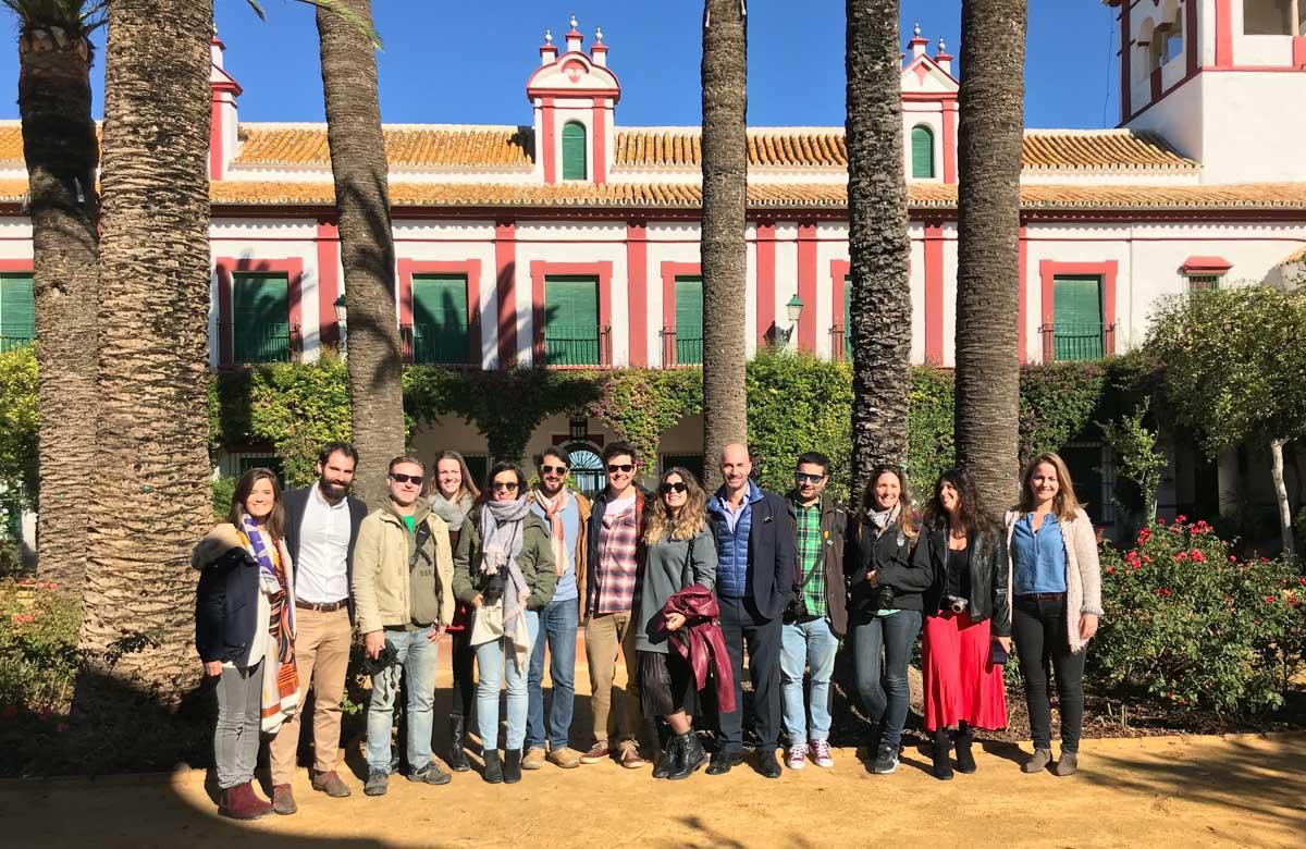 El grupo de blogueros en la Hacienda