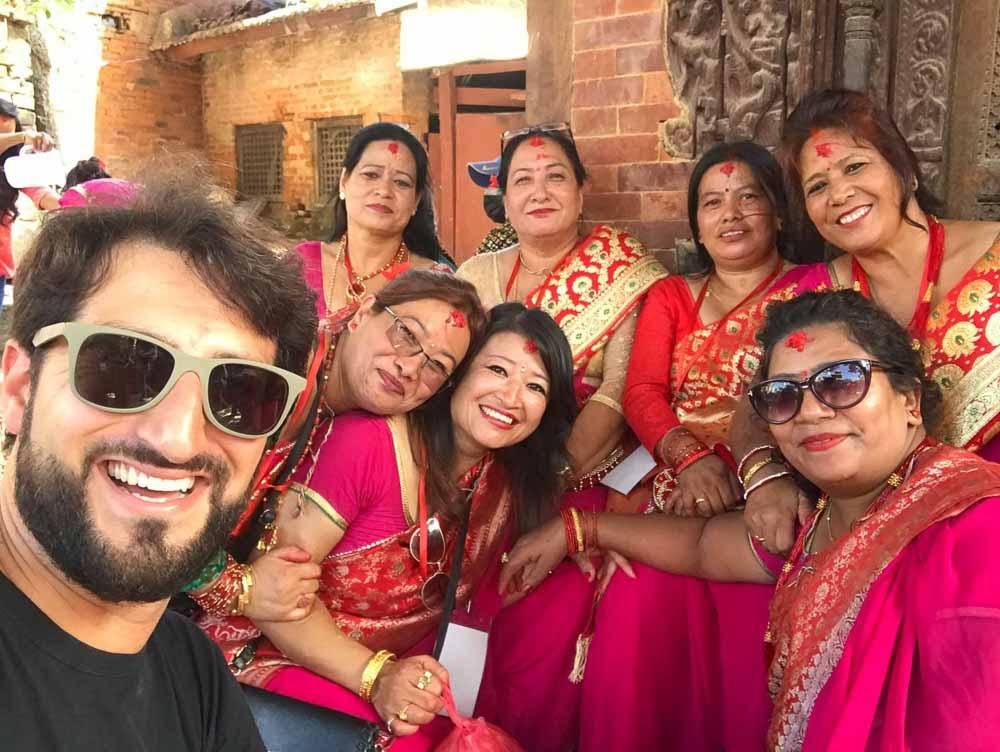 De fiesta en Nepal