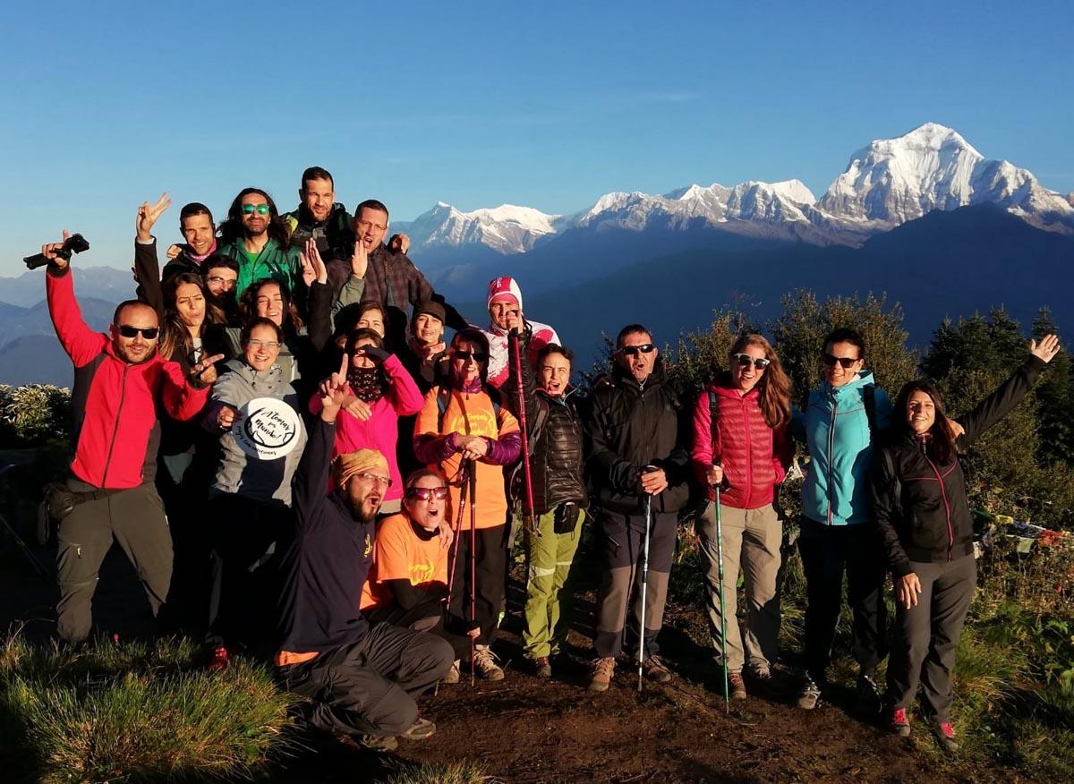 Expedicionarios en Nepal