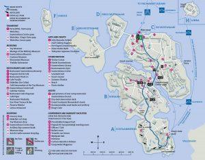 Mapa de Suomenlinna