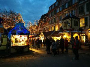 Mercado navidad Colmar noche