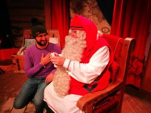 JP con Papa Noel