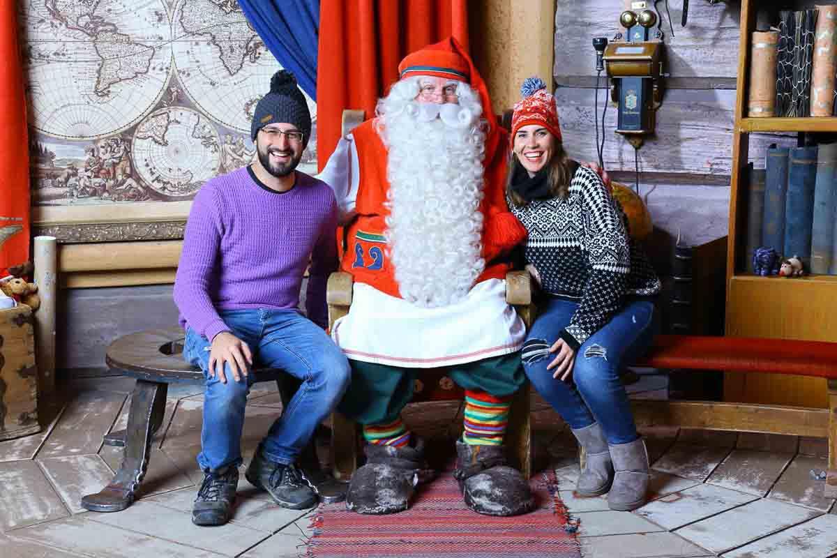 Nosotros con Papa Noel