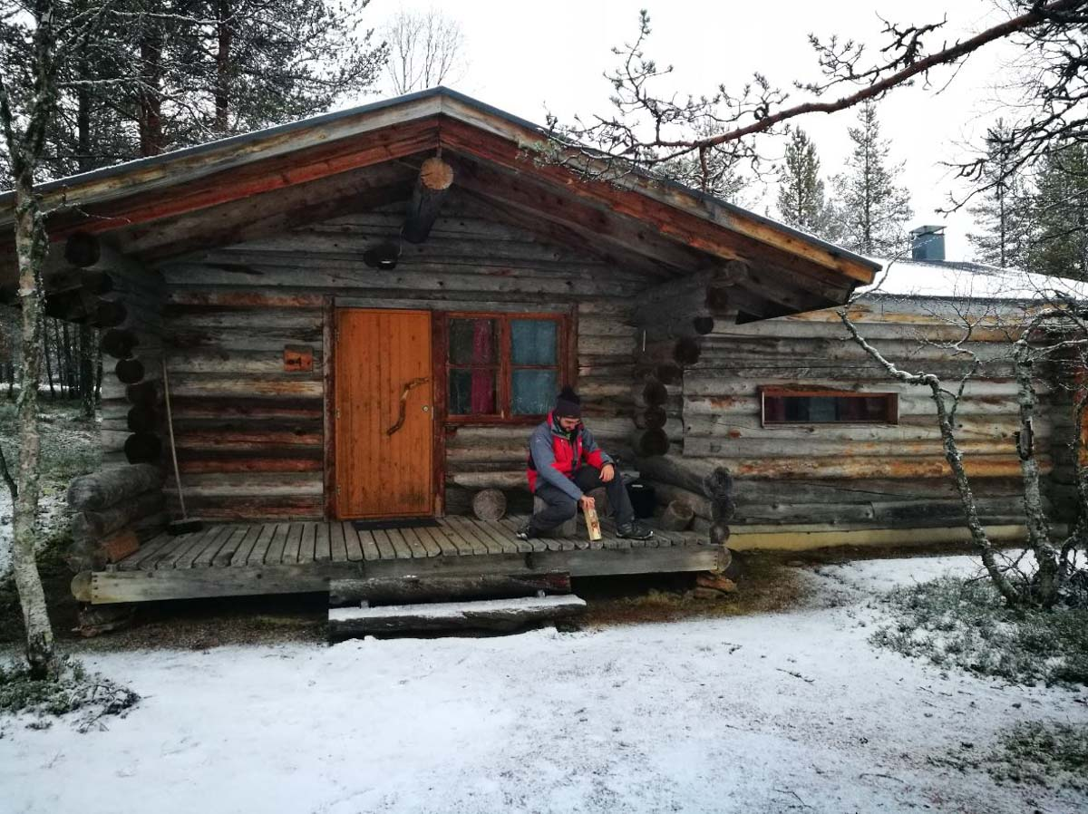 Una casita de madera