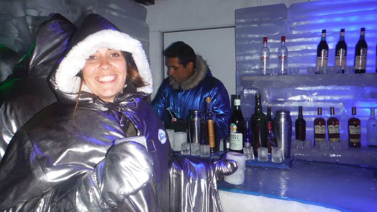 Bar de hielo en la Patagonia