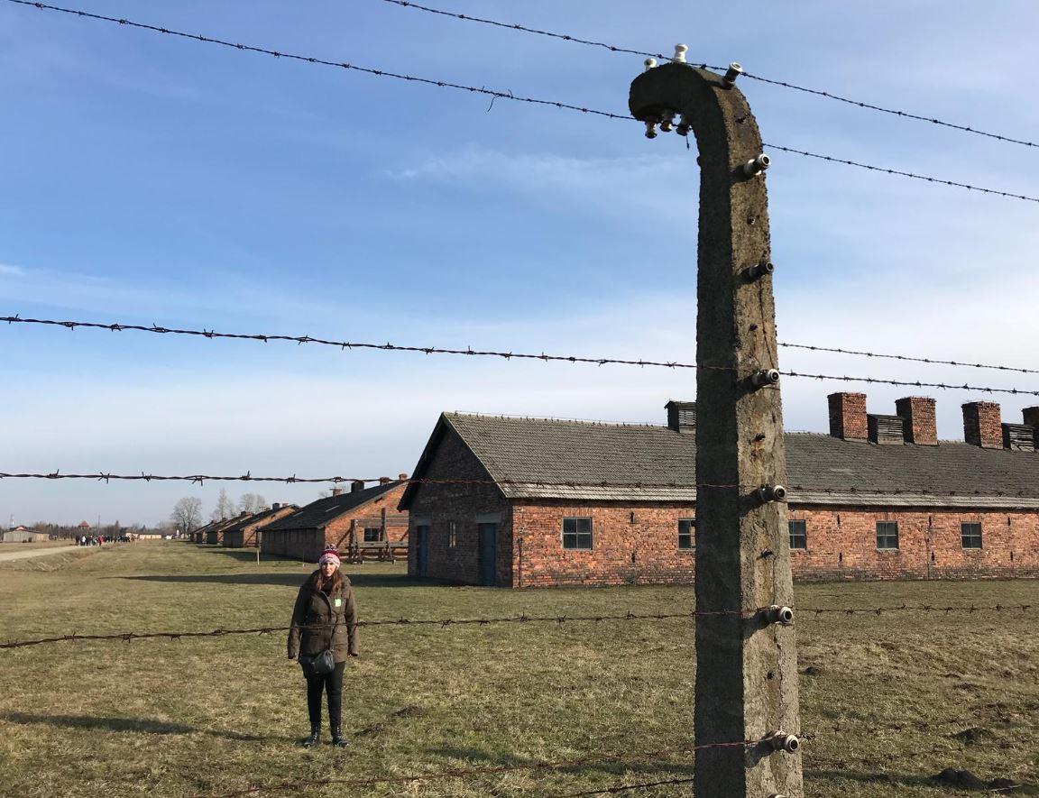 MJ en Auschwitz II