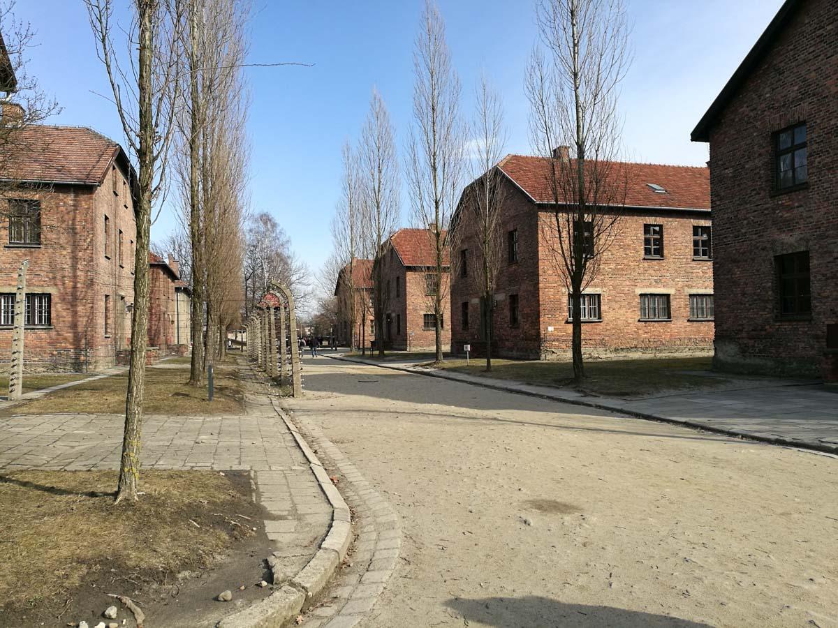 Edificios en Auschwitz I