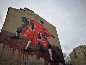 Otro mural en el barrio de Praga