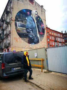 Mural en el barrio de Praga