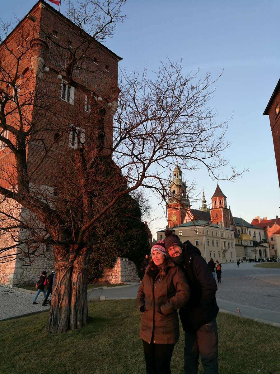 Nosotros en la Catedral de Wawel