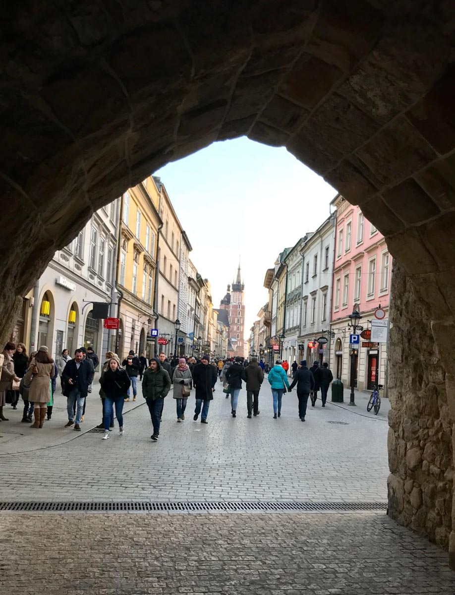 Vistas desde la barbacana de Cracovia