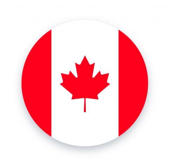 Bandera redonda Canada