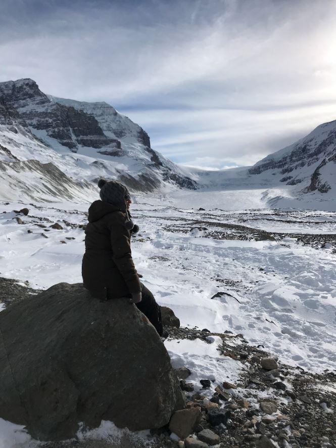 Vistas glaciar en vertical
