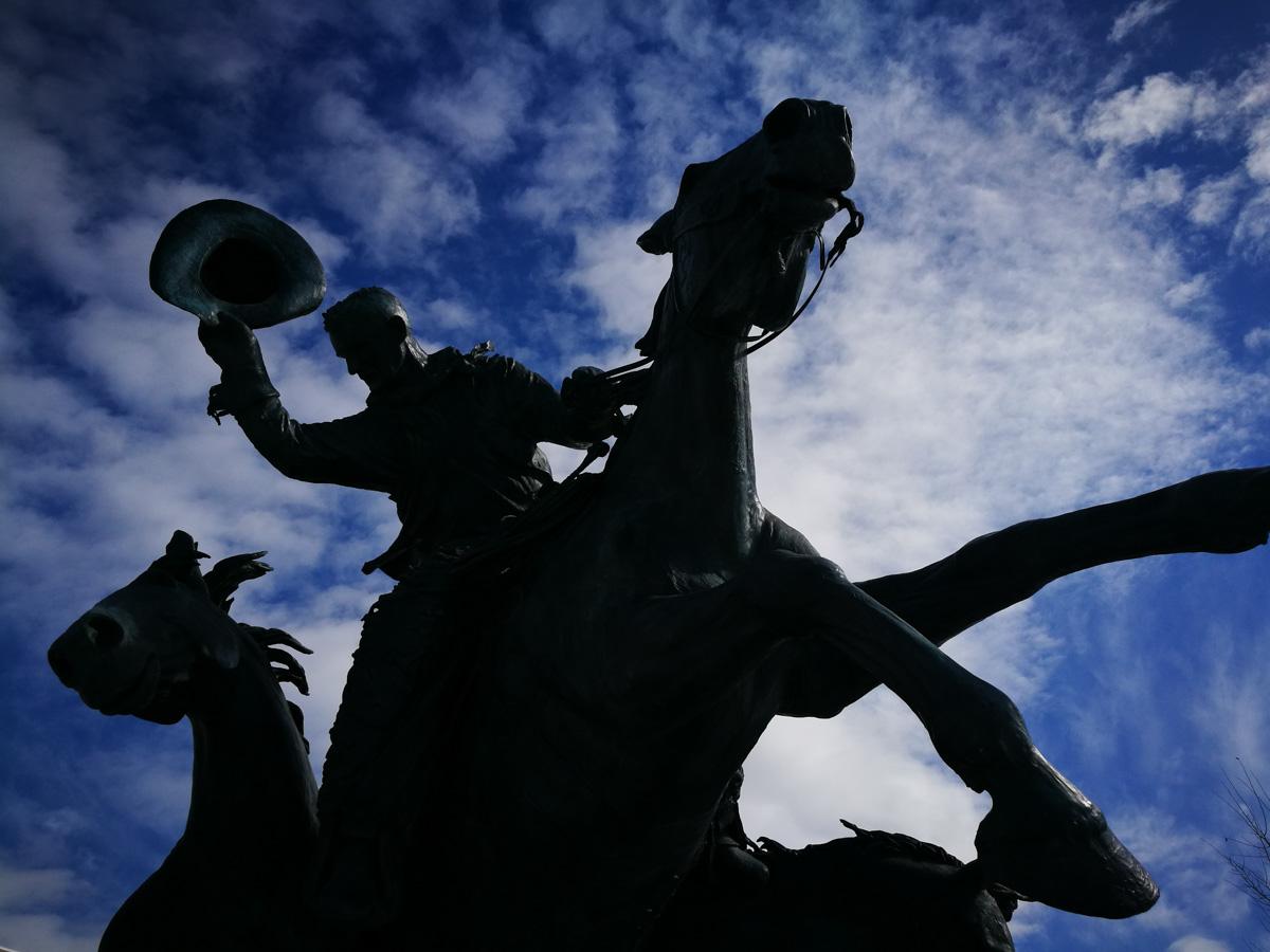 Estatua del vaquero en Calgary