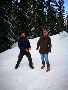 Nieve en Grouse Montain