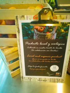 Productos locales en Novotel Sevilla