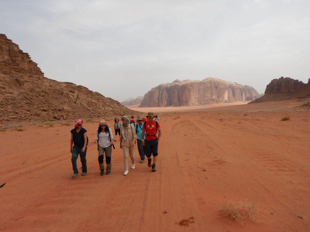 Trekking en Wadi Rum