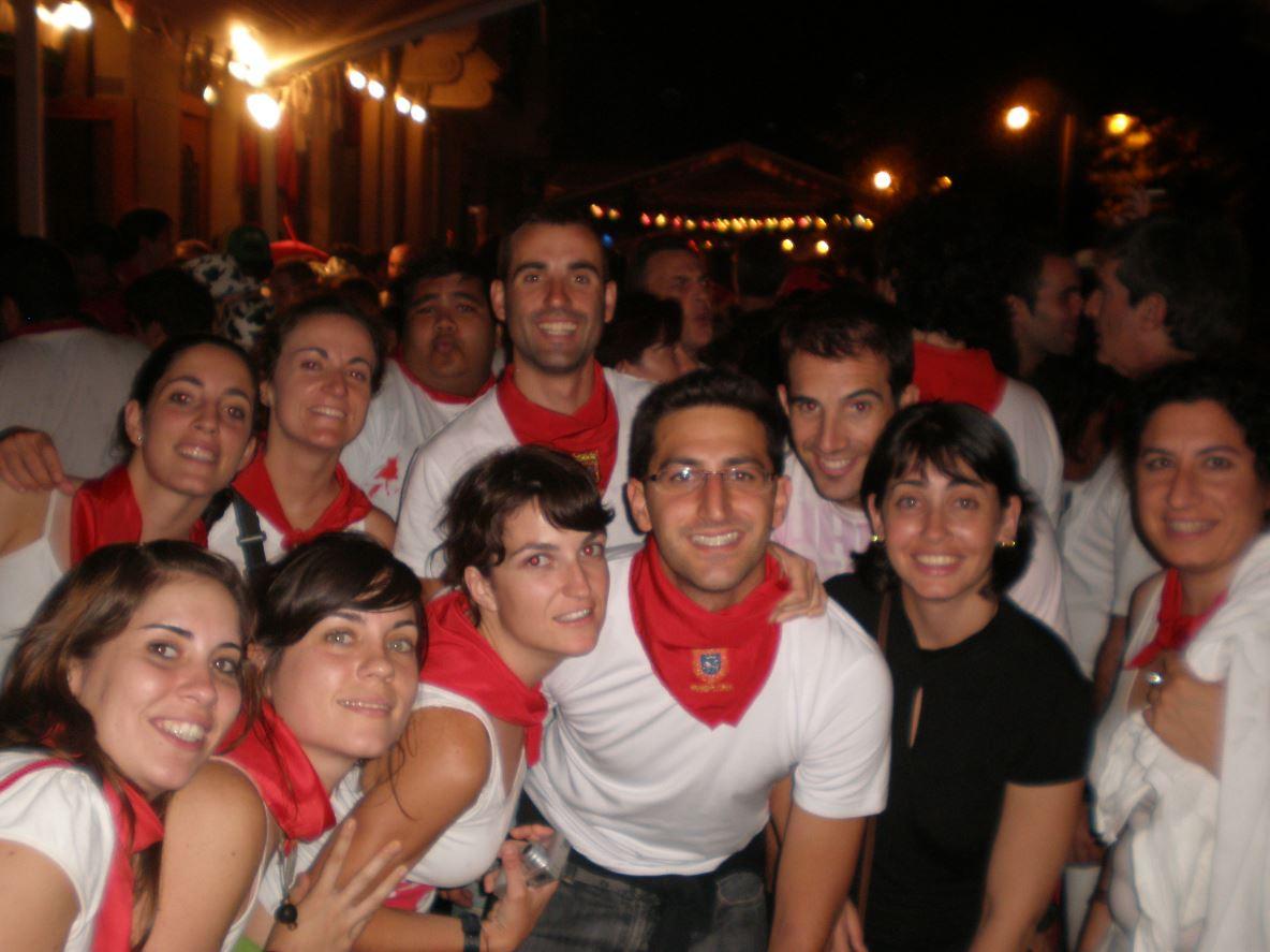 Con amigos en San Fermin