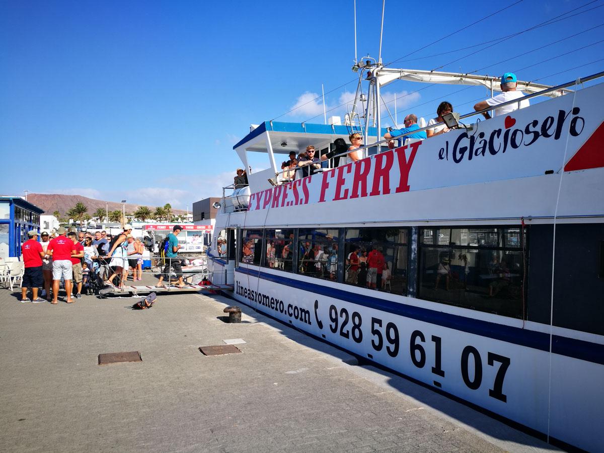 Barco a la isla Graciosa