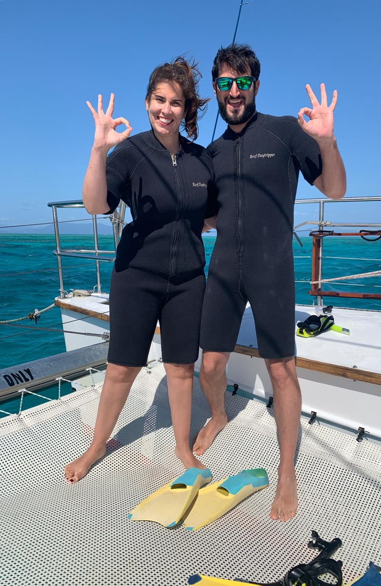 Nosotros en la Gran Barrera de Coral de Australia