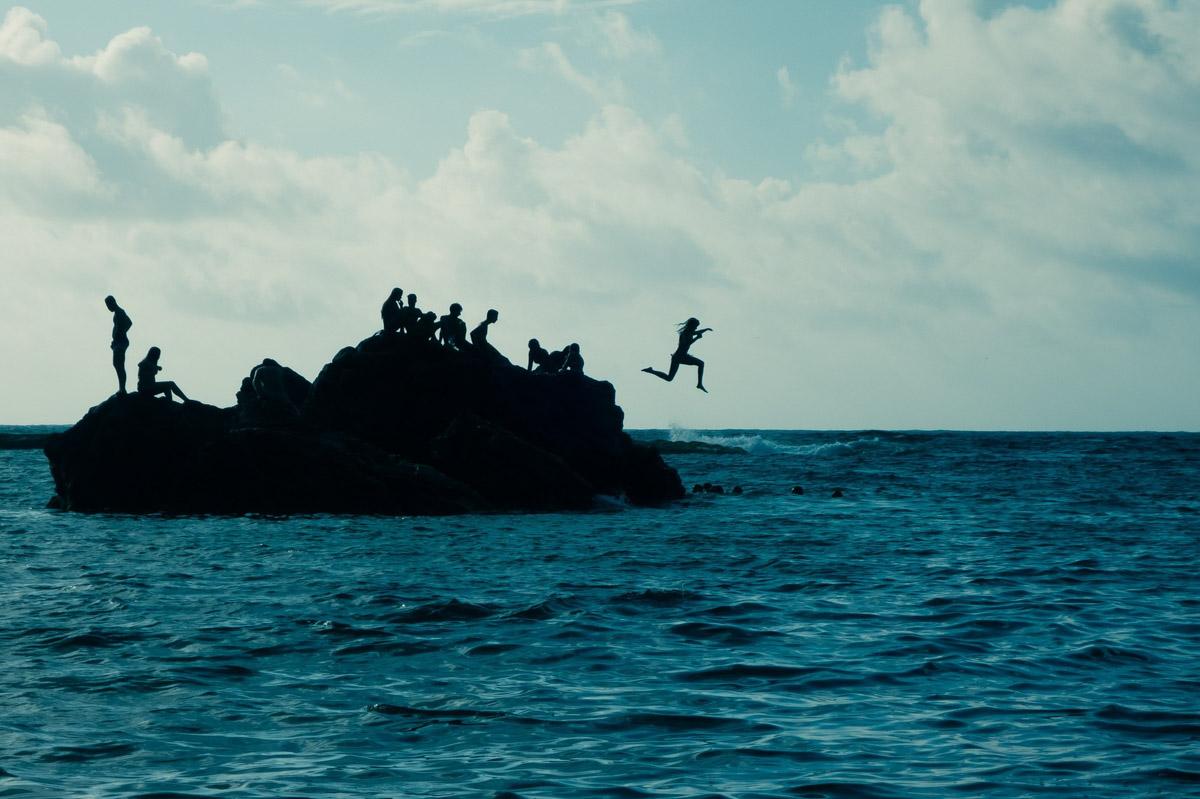 Saltos en las playas de Gran Canaria
