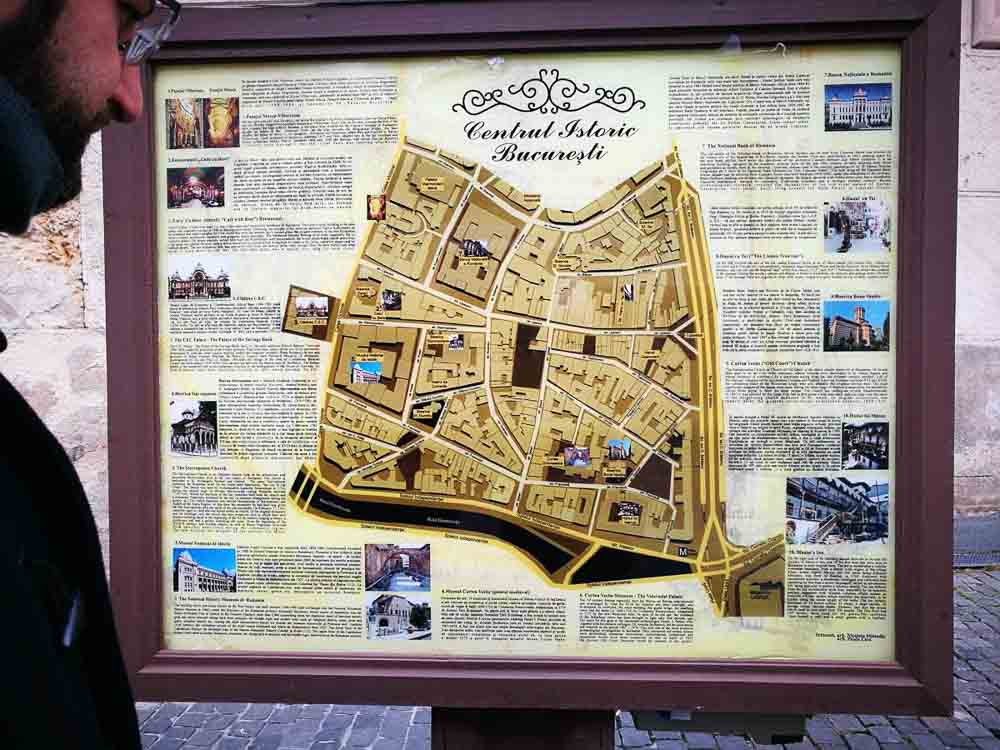 Mapa centro de Bucarest