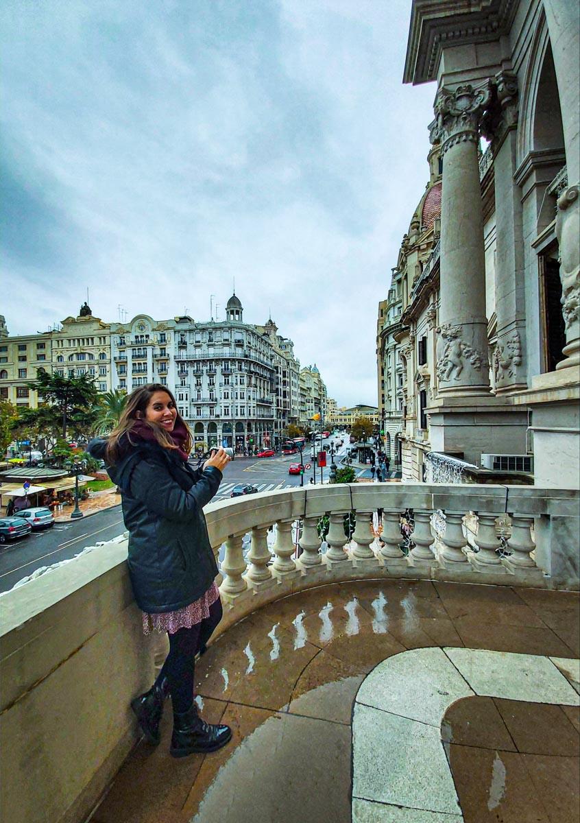 Balcon del Ayuntamento de Valencia