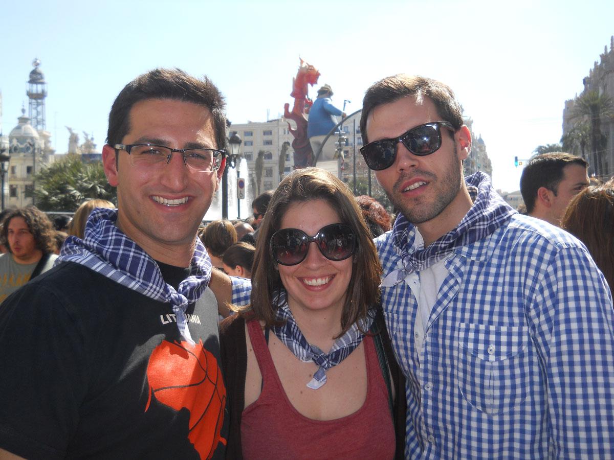 Fallas con amigos valencianos